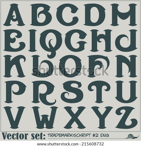 Set of vector letters of the English alphabet  - stock vector