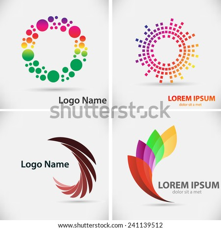 Set of Vector Logo Design Template. Vector illustration. - stock vector