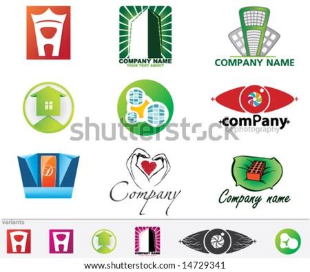 Set of vector logos - stock vector