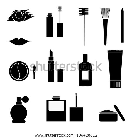 Makeup Icon Vector Set of Vector Makeup Icons