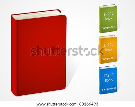 set of vector multicolored books icon design. EPS 10. - stock vector