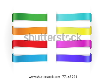 set of vector multicolored empty paper tags for any items - stock vector