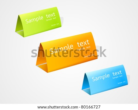 set of vector multicolored nameplate. EPS10. - stock vector