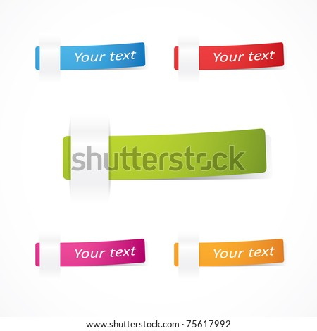 set of Vector multicolored notes
