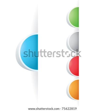 set of vector multicolored Tag Label - stock vector