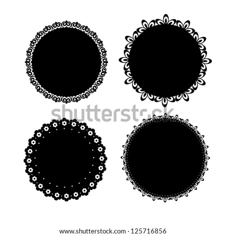 Set of vector napkin icons for scrapbook - stock vector