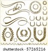 Set of vector ornaments. Perfect for certificates and formal documents. - stock vector