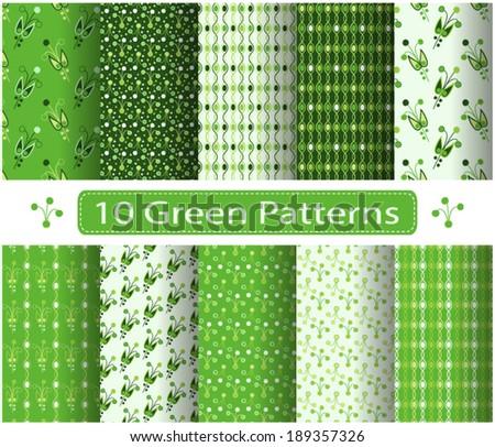 Set of vector patterns - stock vector