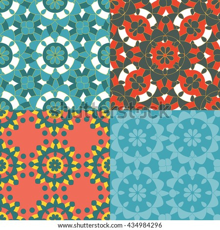 Set of vector patterns. - stock vector