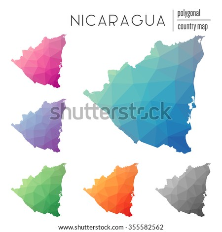 Nicaragua Map Stock Images RoyaltyFree Images Vectors - Nicaragua maps with countries