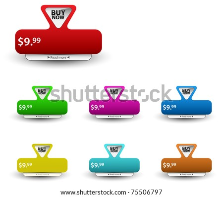 Set of vector price tags. You can use it for any sale time or seasons. - stock vector