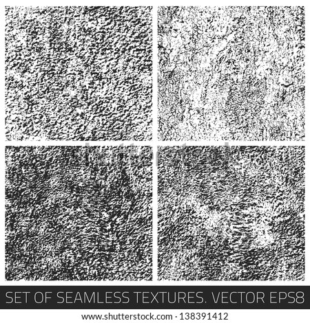 Set of vector seamless textures. Seamless pattern. Vector collection. Retro texture. Vintage texture. Dark texture. Old pattern. Old texture. Design elements. Abstract background - stock vector