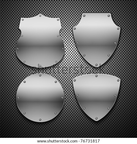 Set of vector shields. Vector illustration. Eps 10 - stock vector