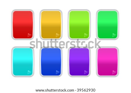 Set of vector shine badges - stock vector