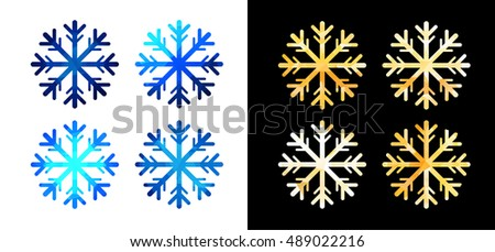 Set of vector snowflakes.