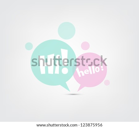 Set of vector speech bubbles icons for websites or business design - stock vector