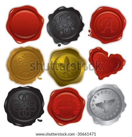 set of vector stamps - stock vector