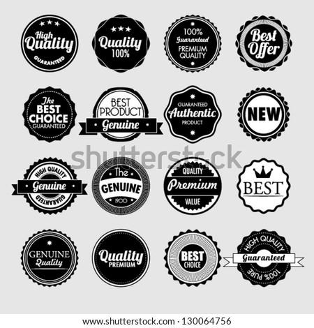 Set of vector stickers - stock vector