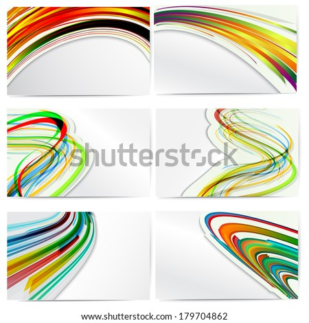 Set of vector templates for business cards. - stock vector