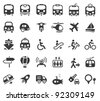 Set of vector transportation icon - stock photo