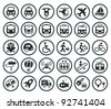 Set of vector transportation icon - stock vector