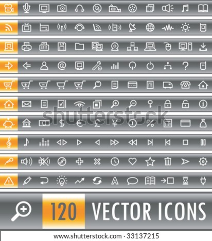 Set of 120 vector web icons - stock vector