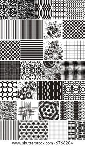 set of vectorial texture design - stock vector