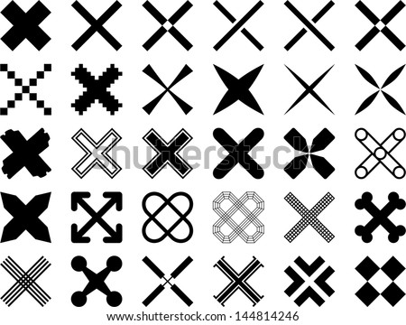 Set of vectorized Crosses - stock vector