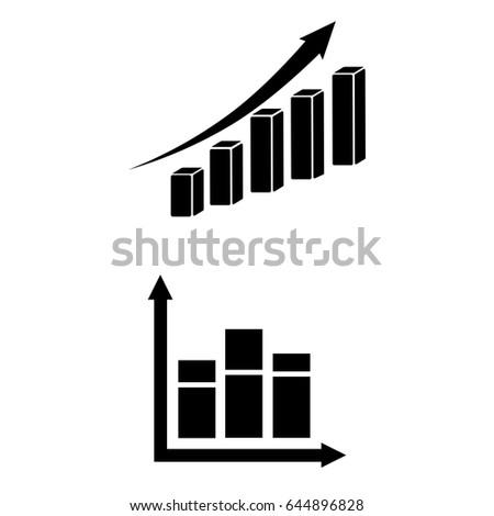 Set 2 vectors pictogram diagram icon stock vector 644896828 pictogram diagram icon black icon on white background ccuart Images