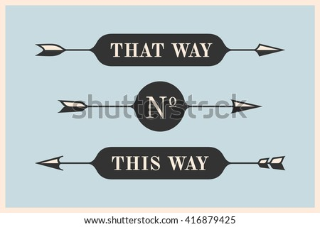 Set Vintage Arrows Banners Inscription That Stock Vector 416879425