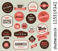 Set of vintage badges and labels - stock