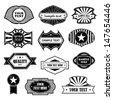 Set Of Vintage Design Elements. Labels In Retro And Vintage Style Isolated On White Background. Vector Illustration, Graphic Design.Lot Of Elements Useful For Design. Retro Vintage Styled Elements  - stock vector