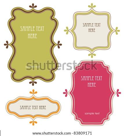 set of vintage frames. vector illustration - stock vector