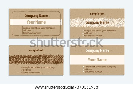 Set vintage handmade business cards hand stock vector 370131938 set of vintage handmade business cards with hand drawing textures hand drawing copy space on reheart Image collections