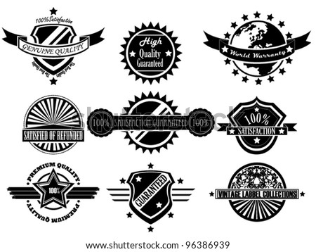 SET OF VINTAGE LABEL COLLECTION - stock vector