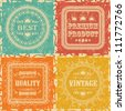 Set of Vintage Labels. Retro Style, Grunge Effect - stock vector