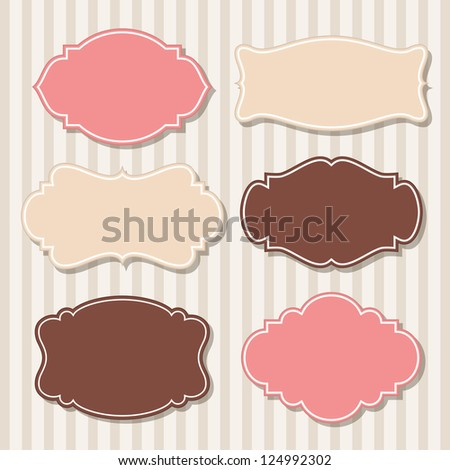 Set of vintage labels, vector - stock vector