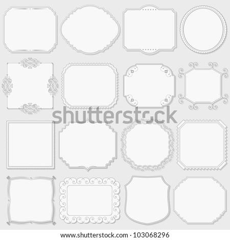 Set of vintage labels, vector eps10 illustration - stock vector