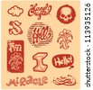 set of vintage retro badges and labels - stock vector