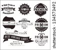 Set of vintage retro premium quality badges and labels - stock vector