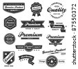 Set of vintage retro premium quality badges and labels - stock