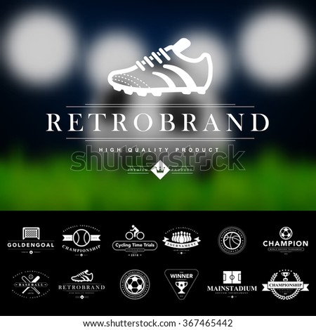 Set of vintage sport badges and labels.Vector eps10