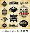 Set of Vintage Style Premium Quality, Original & Limited Edition Icons/Labels - stock