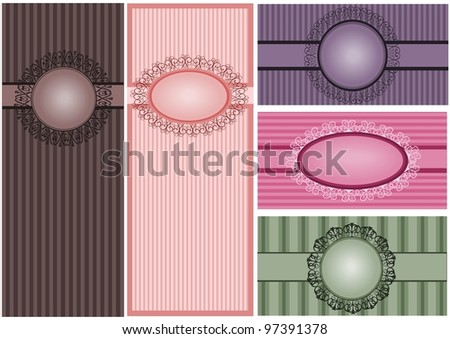 Set of vintages - stock vector