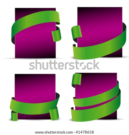 set of violet sale and gift tags - stock vector