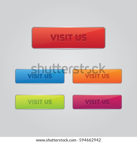 Set of Visit Us Buttons