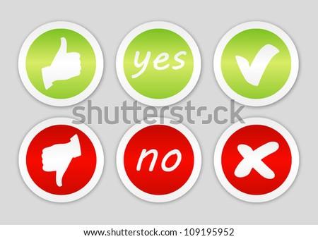 Set of voting stickers - stock vector