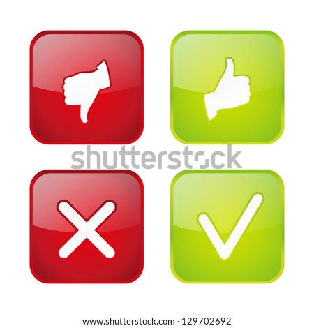 Set of  voting web buttons - stock vector