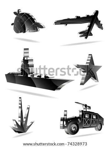 set of war icons. vector 2