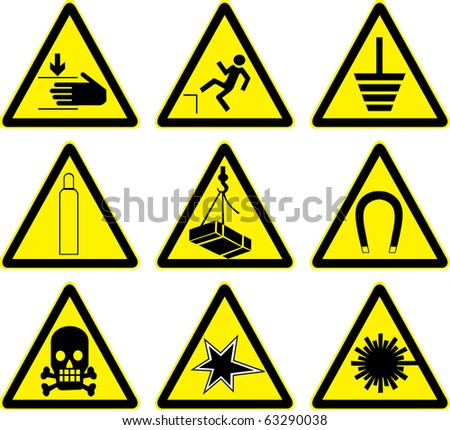 Set of warning signs vector work.